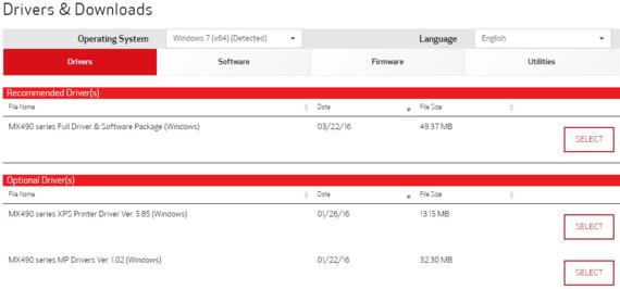 pixma mx490 driver screenshot