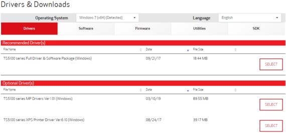 canon pixma ts5120 driver download screenshot